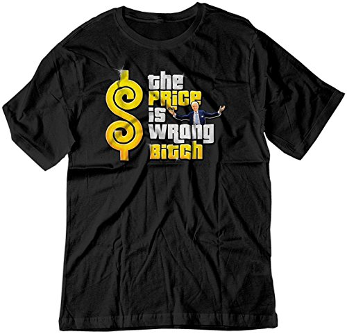 BSW Men's The Price is Wrong Bob Barker Happy Gilmore Shirt 2XL Black