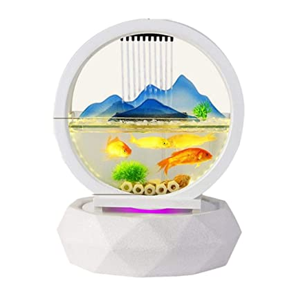 MEILI Agua Vidrio Cerámica Pecera Ornamentos Moderno Europeo Sala De Estar Interior Decoración Casera Productos,