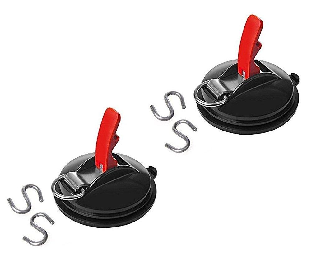 Soporte con montaje de ventosa con anillo y 2/ganchos en forma de S carga m/áxima 10/kg