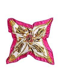 "CS&BEAUTY Women's Neckerchief 35""X35"" Large Square Scarf Headdress (Rose)"