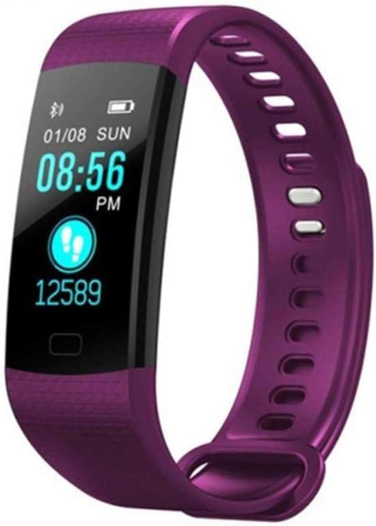Reloj inteligente rastreador de actividad pantalla color impermeable Monitor de ritmo cardiaco reloj cardio mallalah Fitness inteligentes pulsera inteligente morado