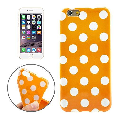 König Boutique Apple iPhone 6Plus Housse Sac Coque de protection Coque de protection Case Cover Étui Coque Housse Coque Housse supportant Illy Design Orange/Blanc