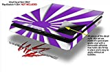 Rising Sun Japanese Flag Purple - Decal Style Skin fits Sony PlayStation 4 Slim Gaming Console