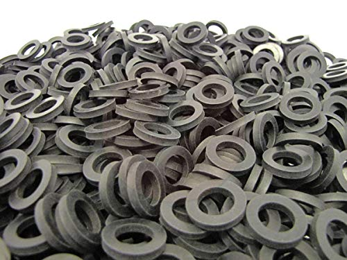 (100 Pack) Brewery Gasket Rubber Washers - Premium Quality Primal23 Industrial Beer Nut Washers - Keg Coupler and Shank Gaskets