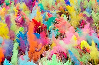 ColorMarathon(TM) Premium Quality non-toxic HOLI Colors color powder - 12 Lbs (6 colors X 2lbs Ea color) RED, YELLOW, PINK, BLUE, GREEN, AND PURPLE - SHIPS FROM USA