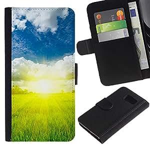 All Phone Most Case / Oferta Especial Cáscara Funda de cuero Monedero Cubierta de proteccion Caso / Wallet Case for Samsung Galaxy S6 // Nature Beautiful Forrest Green 73
