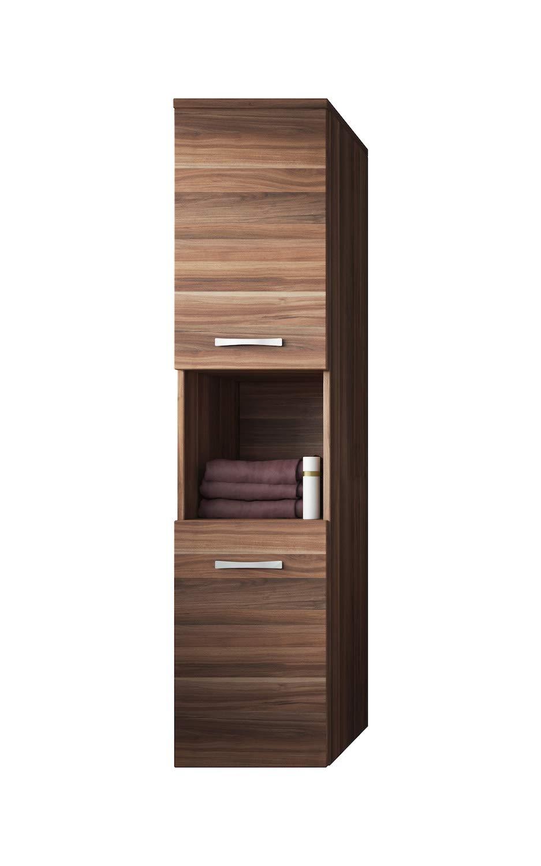 Badezimmer Schrank Montreal 131 cm Walnuss – Regel Schrank Hochschrank Schrank Möbel