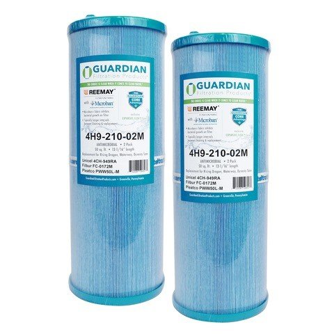 Guardian Antimicrobial 2 Pack Pool Spa Filter Replaces Unicel 4CH-949 FC-0172 FC0172 PWW50L Rising Dragon Microban