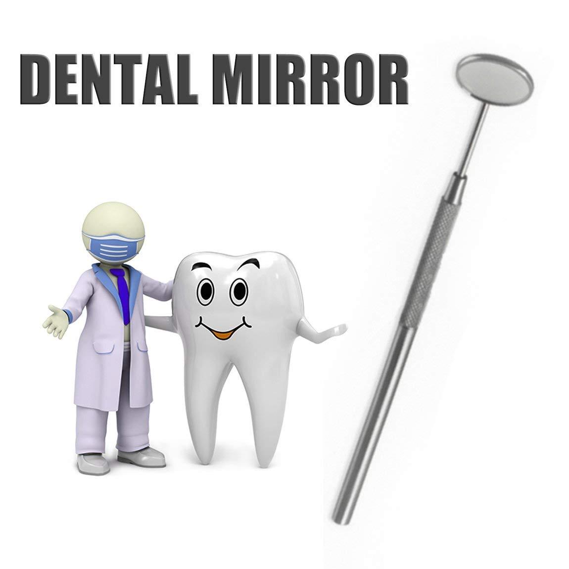 Colore: Argento 73JohnPol Specchietto Dentale in Acciaio Inossidabile per Il Controllo dei Denti Pulizia dei Denti Pulizia del Dente Strumenti per la Cura della Salute