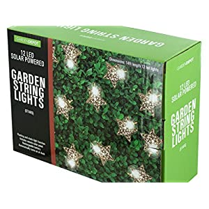Bulk Buys Silver Star LED Solar String Lights - Pack of 2