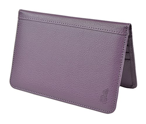 Belle Donne - RFID Blocking Passport Holder Leather Travel Wallet - (Bonded Leather Travel Wallet)