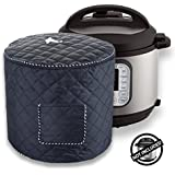Instant Pot Dustproof Bag/Decorative Cover - Pressure Cooker Covers Appliancers Cover Instant Pot Accessories 6 Quart- Black Color with Front Pocket