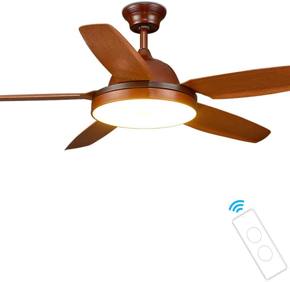 142CM Ventilador De Techo con Iluminación, Ventilador de Techo 75 W, 5 Aspas LED Ventilador de Luz, Velocidad del Viento Ajustable, Control Remoto Ajustable, 36W LED Luz De Techo