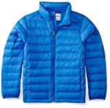 Amazon Essentials Boys' Lightweight Water-Resistant Packable Puffer Jacket, Royal Blue, Small