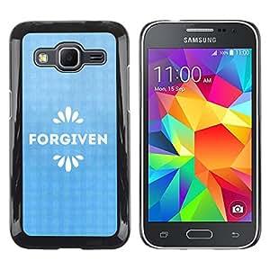 Paccase / SLIM PC / Aliminium Casa Carcasa Funda Case Cover para - BIBLE Forgiven - Samsung Galaxy Core Prime SM-G360