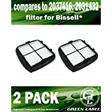 2 Pack For Bissell Pet & Hand Vac Multi-Level Vacuum Filter (compares to 2037416, 2031432). Genuine Green Label product.