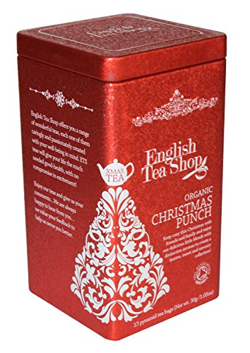 English Tea Shop Christmas Punch Square Tin Nylon Pyramid, 30 Gram