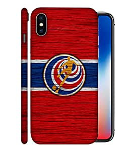 ColorKing Football Costa Rica 11 Red shell case cover for Apple iphone X