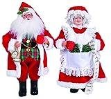 "Santas Workshop Mr. And Mrs. Claus Figurine, Set of 2, 15"""