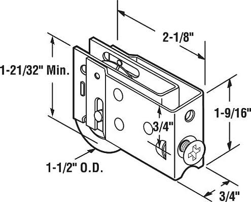 Prime-Line productos D 1822 puerta corredera rodillo con rodamiento de bolas de acero 1 – 1/2-inch: PRIME LINE PRODUCTS: Amazon.es: Bricolaje y herramientas