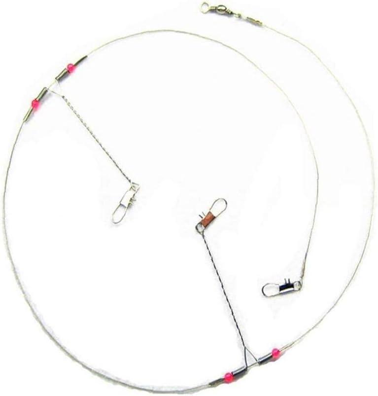 10Pcs Steel Wire Angelk/öder Stahlvorf/ächer Trace Mit Snap /& Beads /& Arme Angeln Rigs Leaders Trace F/ür S/ü/ß- Salzwasser