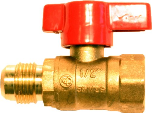 Plumber's Choice 11161 Gas Ball Valve with Threaded by Flare Ends, 1/2-Inch FIP by 1/2-Inch - Ball Fip Valve Pvc