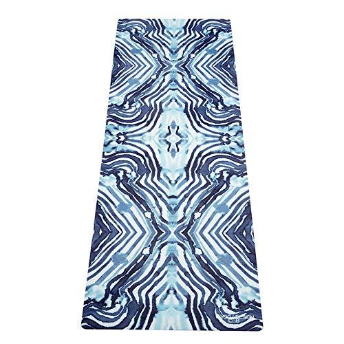 YOGA DESIGN LAB | The Combo Yoga MAT | 2-in-1 Mat+Towel | Eco Luxury | Ideal for Hot Yoga, Power, Bikram, Ashtanga, Sweat | Studio Quality | Includes Carrying Strap! (Harajuku, 70 x 24) ()
