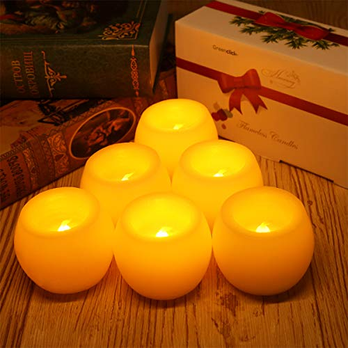 Candles Battery Operated Greenclick LED Flameless Candles Flickering Unscented for Seasonal and Festival Celebration 6 - Drop Candles Danish
