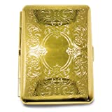 Silver-tone or Gold-tone Cigarette/Card Case with Elastic Home Garden Living Gifts