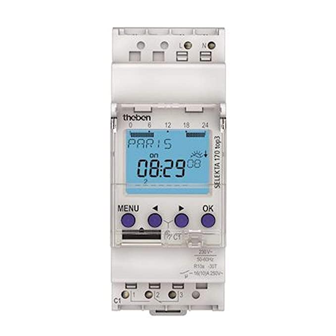 Theben selekta170top3 temporizador digital 230 - 240 VAC 1 Kan wechs REG 24h Prog 24h programa semanal programa 2TE: Amazon.es: Electrónica