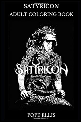 Satyricon Adult Coloring Book Black Metal Founders And