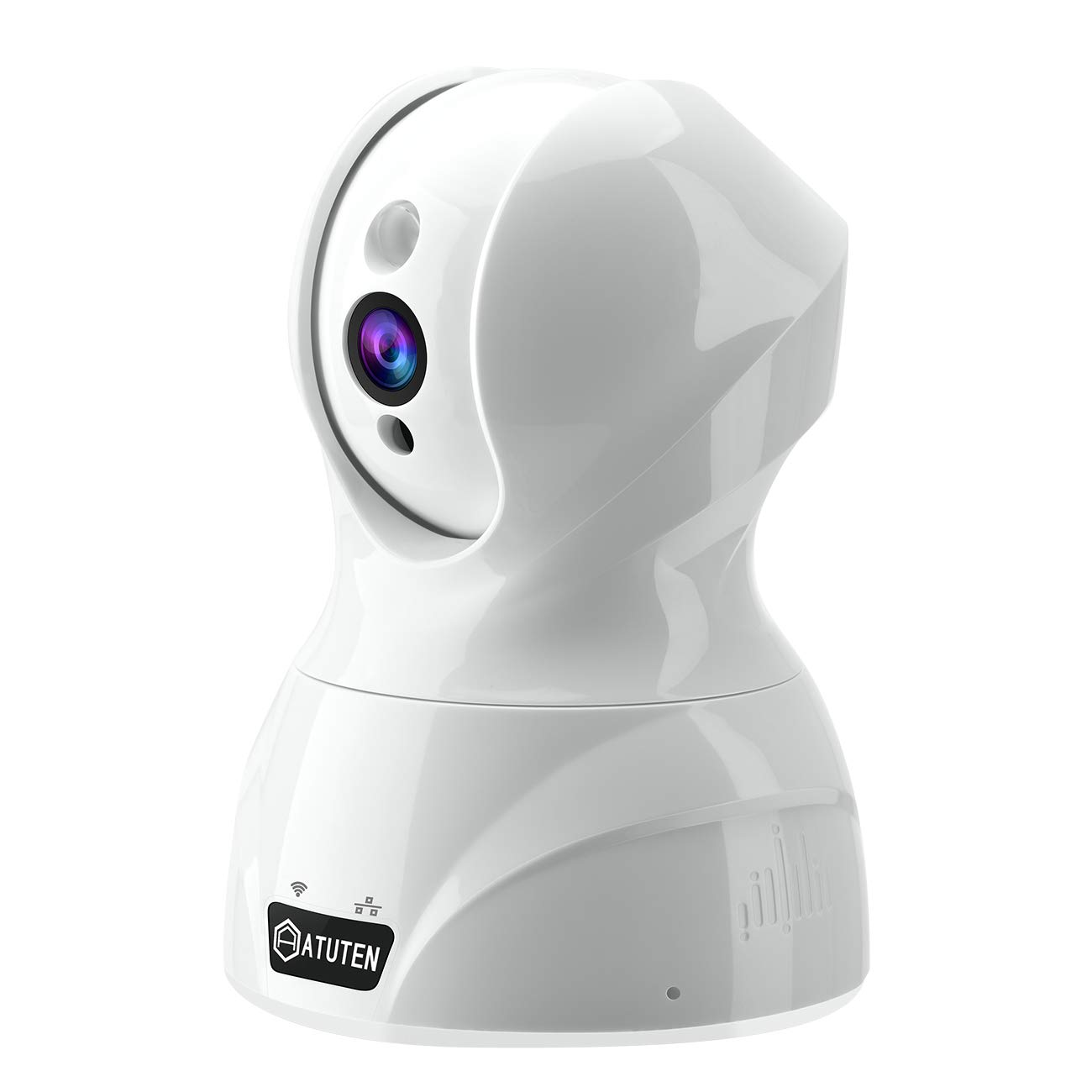 Atuten Seguridad 1536P IP Cámara WiFi Camaras de Vigilancia Inalámbrico 3MP HD Audio bidireccional, Visión Nocturna, Detección de movimiento, Seguridad para casa para bebé anciana seguridad en el hogar Compatible con iOS y Android Blanco 826