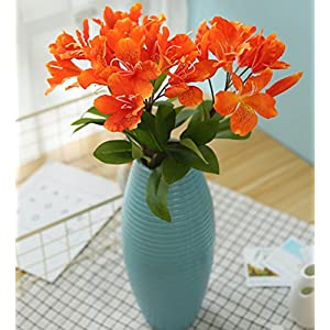 Skyseen 3PCS Artificial Flowers Azalea Blossoms Fake Rhododendron for Home Decor 30