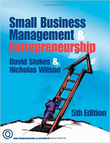 Small Businesss Management And Entrepreneurship David Stokes