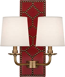 product image for Robert Abbey 1031 Williamsburg Lightfoot - Two Light Wall Sconce, Choose Finish: Aged Brass