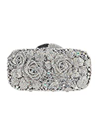 f775de2c00 Fawziya Floral Purse And Handbags For Women Rhinestone Crystal Clutch Bag