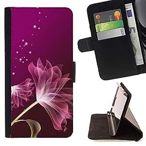 - Petal Purple Stars Glitter Pink/ Personalized Design Custom Style PU Leather Case Wallet Flip Stand - Cao - For LG Volt 2 / LG G4 Mini (G4c)