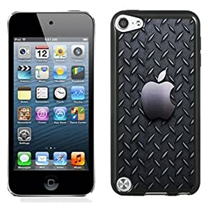 NEW Unique Custom Designed iPod Touch 5 Phone Case With Metallic Pattern Apple Logo_Black Phone Case