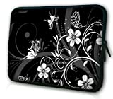 WATERFLY Black and White Retro Flower Pattern 17