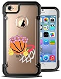 iPhone 6 Plus Case / iPhone 6S Plus 5.5 Inch Case Basketball Hoop Emoji Floral Crown Hybrid Transparent Designer Case Cover. Fits iPhone 6 Plus / iPhone 6S Plus (5.5) [ KlypsterMax ]