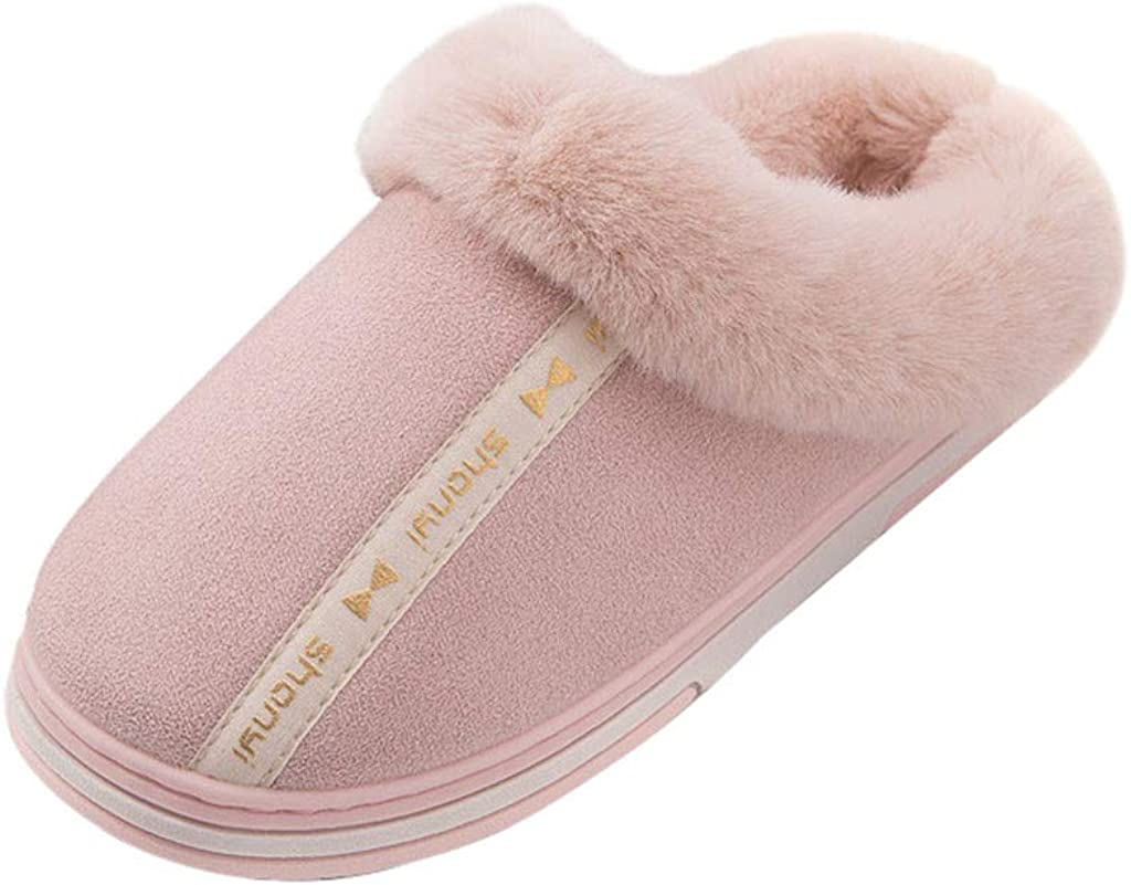 Women Slippers Memory Foam Fluffy Warm Comfy Soft Fuzzy Plush Non Slip House Shoes for Indoor /& Outdoor Use