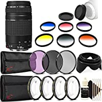 Canon EF 75-300mm f/4-5.6 III USM Telephoto Zoom Lens for Canon EOS 750D 760D 650D 600D with Accessory Kit