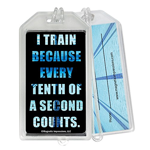 Swimming Tenth of a Second Quote Luggage Tag - Set of 2