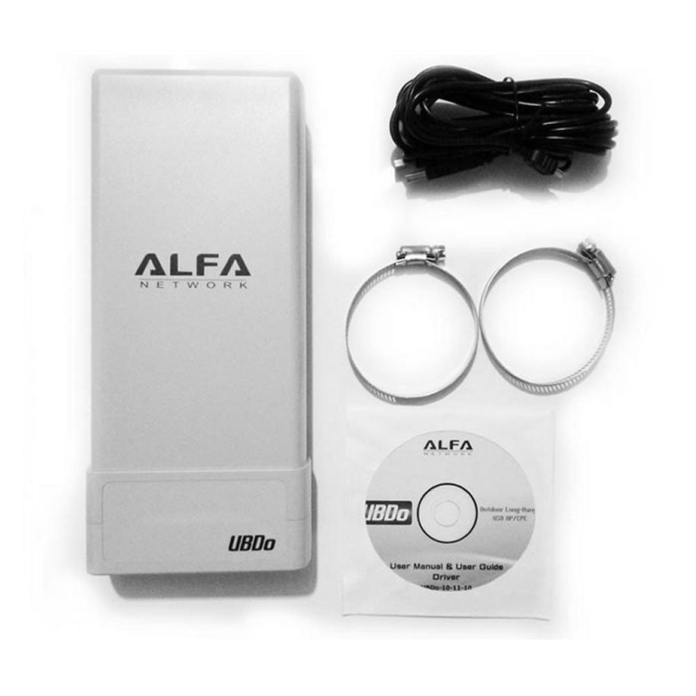 Alfa Network UBDO-G8 - Adaptador WiFi USB 802.11b / g, Largo Alcance, Radio, Tipo N Conector de Antena Externa, Cable de 8 m