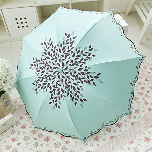 SBBCW Kompakt Kreativität Vinyl Falten Sonnenschutz UV Schatten Regenschirmen Shb1x24whO