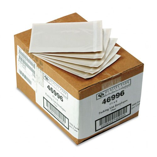 Front Self Adhesive Packing - Quality Park : Clear Front Self-Adhesive Packing List Envelope, 6 x 4 1/2, 1000/box -:- Sold as 2 Packs of - 1000 - / - Total of 2000 Each