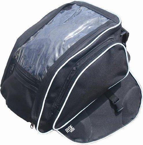 Ryde - Sacoche de réservoir pour moto - polyester - avec aimant - poche pour carte routière/livre/boisson - universel