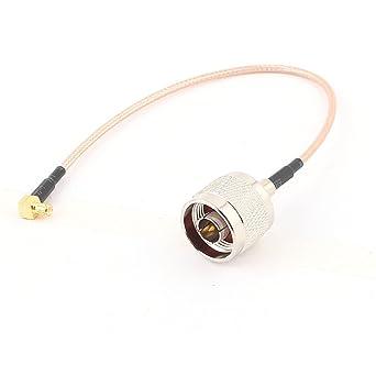 N Macho MCX al adaptador de ángulo recto masculino RG316 Cable coaxial de 20 cm
