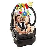 Baby Kids Crib Cot Pram Hanging Rattles Spiral Stroller Car Seat Toy (bee)