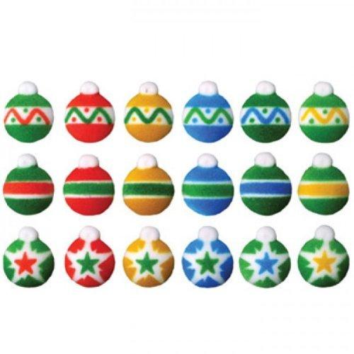 Mini Ornaments Christmas Sugar Decorations Cookie Cupcake Cake 12 (Edible Christmas Decorations)
